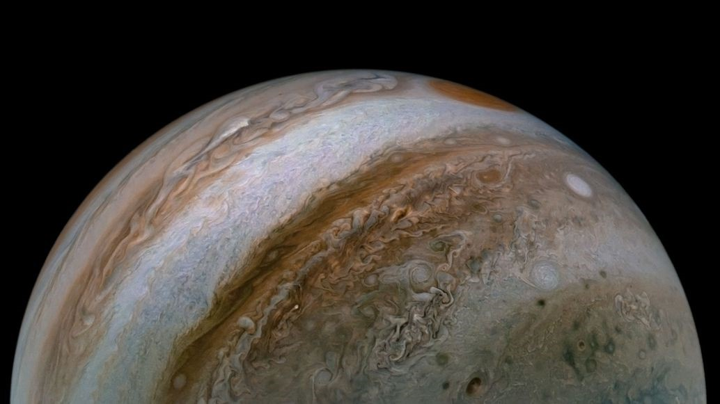 Jupiter atmosphere from NASA Juno