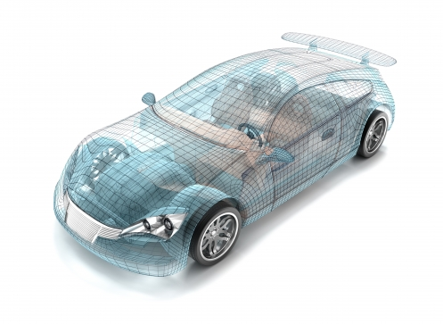 Automobile wireframe