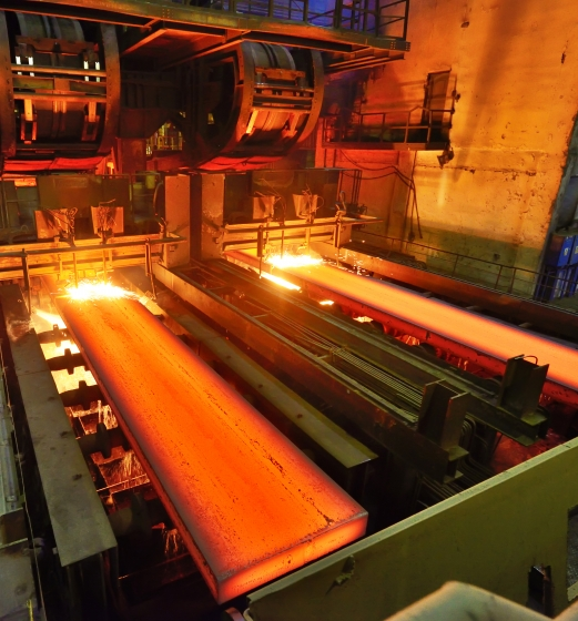 Steel casting process